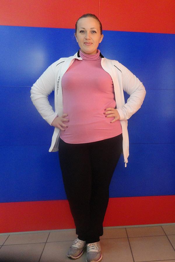 Яна Бедарева до диеты
