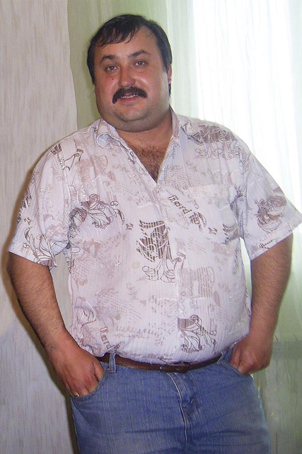 Олег Глотов до диеты