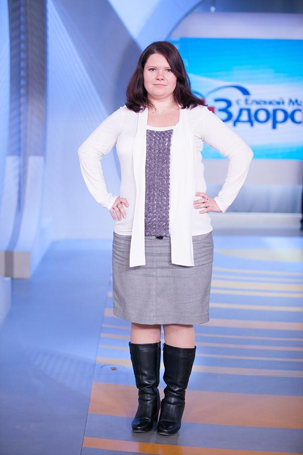 Оксана Хахалина до диеты